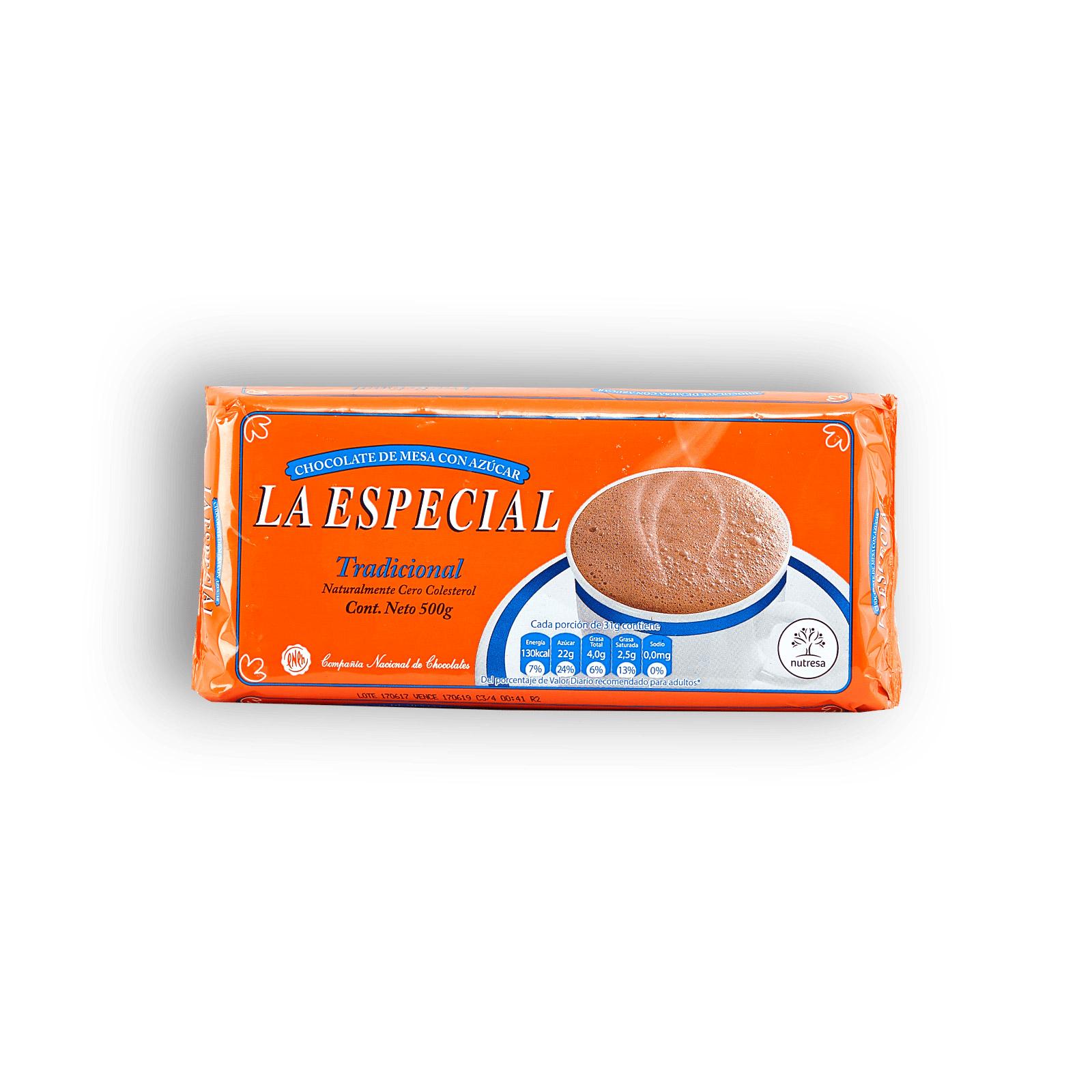Chocolate De Mesa La Especial Tradicional Con Az