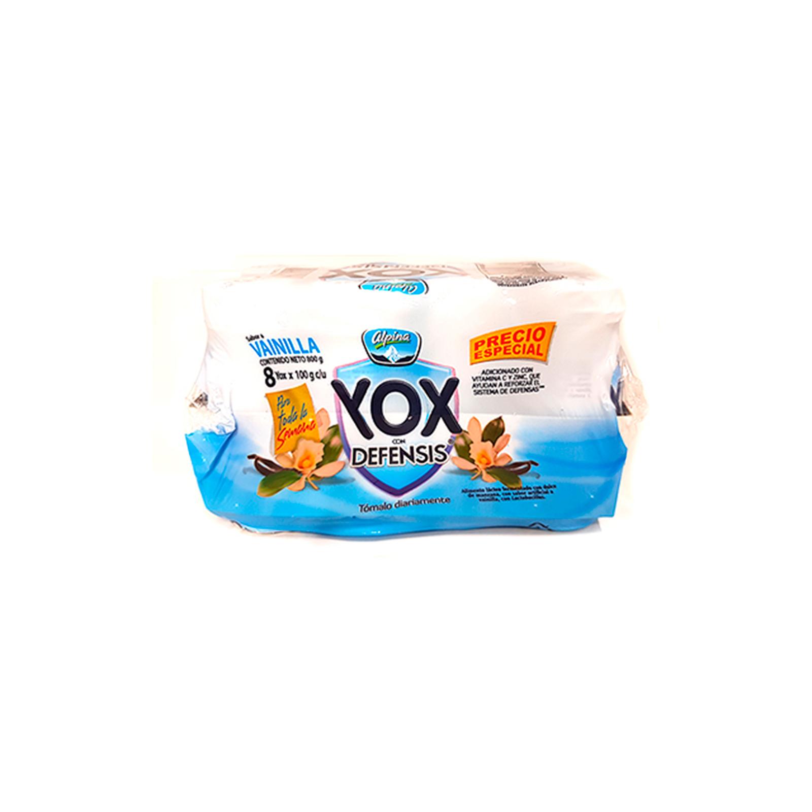 Yogurt Yox Defensis Sabor A Vainilla 8 Unidades