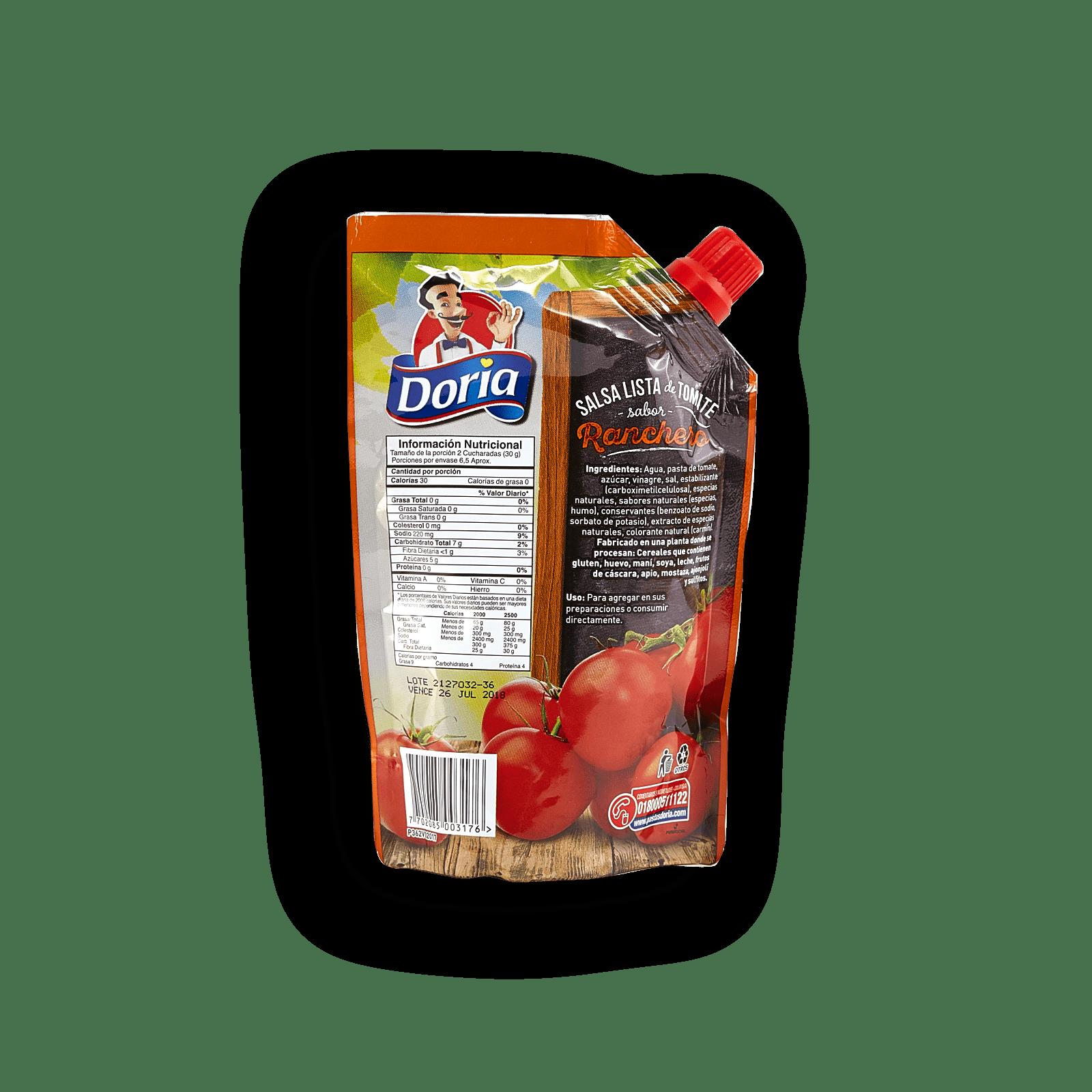 Salsa Lista De Tomate Doria Ranchero