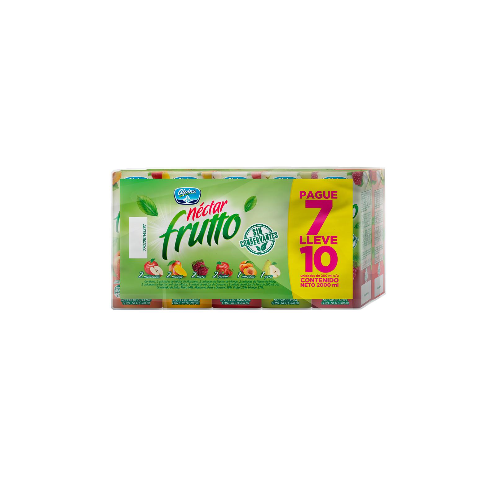 Jugos Néctar Frutto Multisabor Pague 7 Lleve 10
