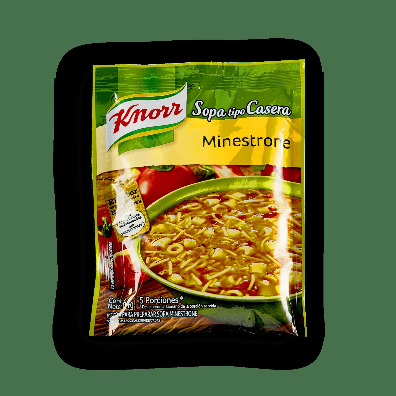Sopa Tipo Casera Knorr Minestrone