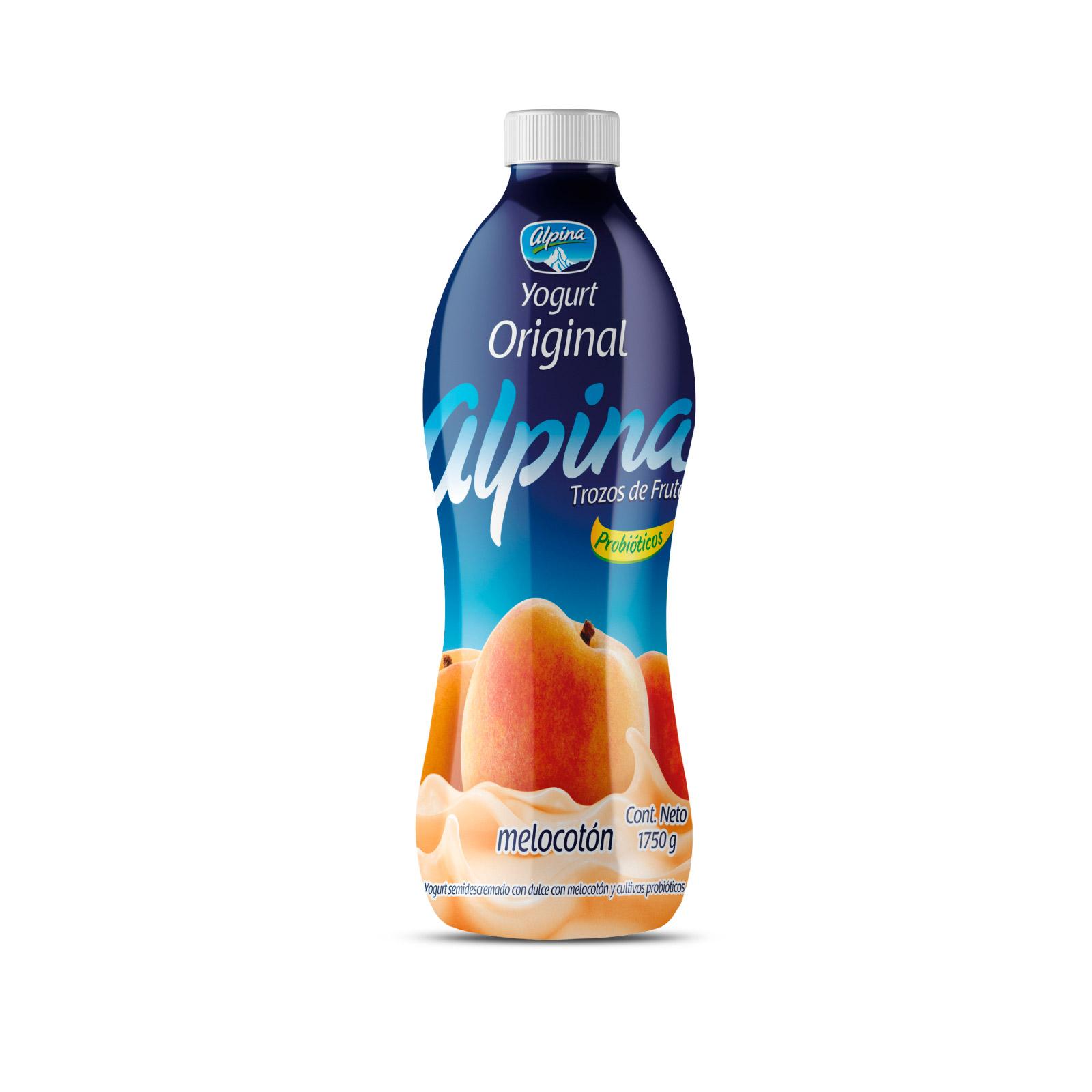 Yogurt Alpina Original Melocotón En Botella