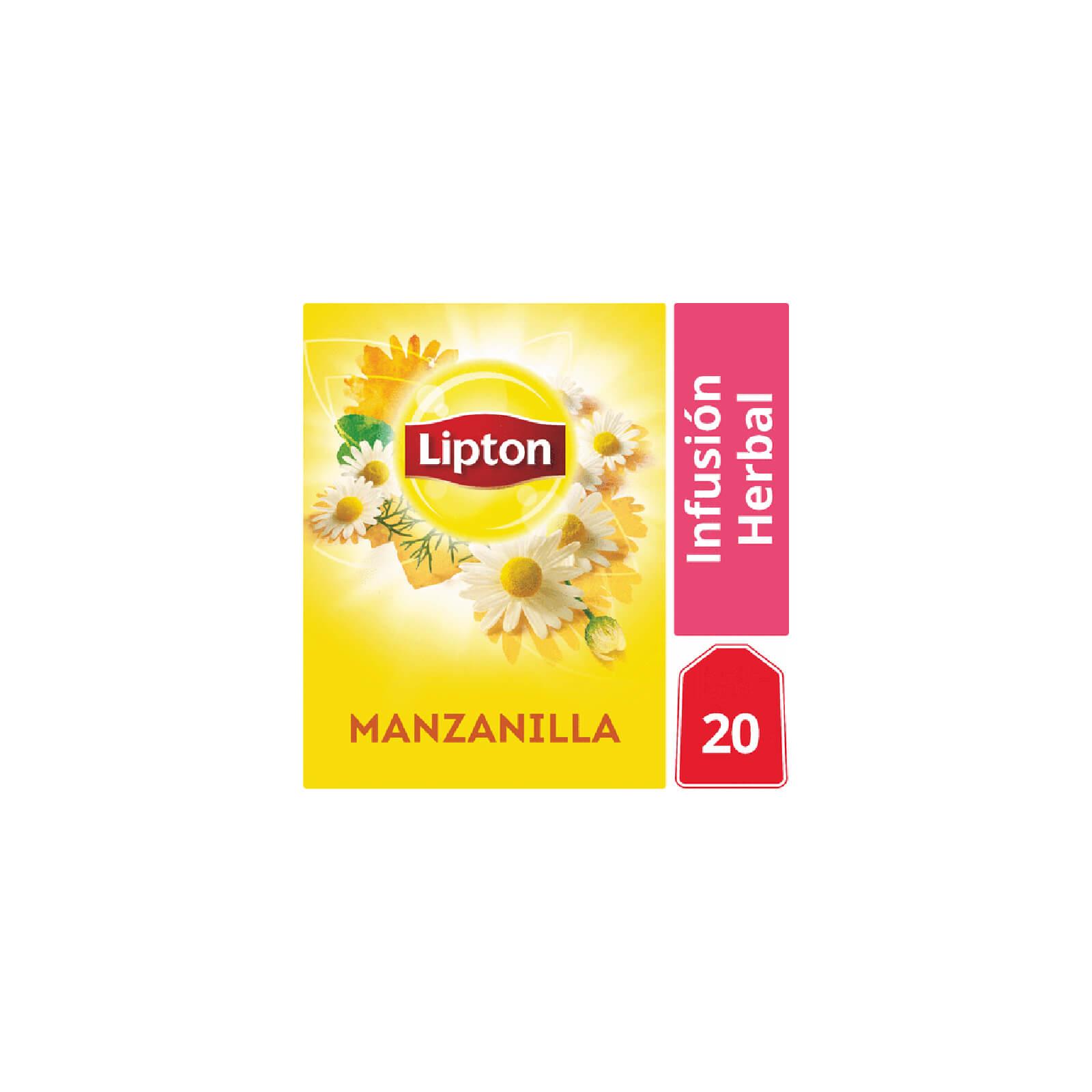 Infusión Herbal Lipton Manzanilla 20 Bolsitas