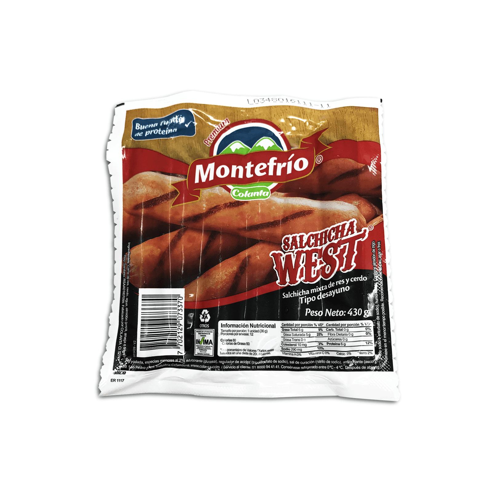 Salchicha West Montefrío Colanta