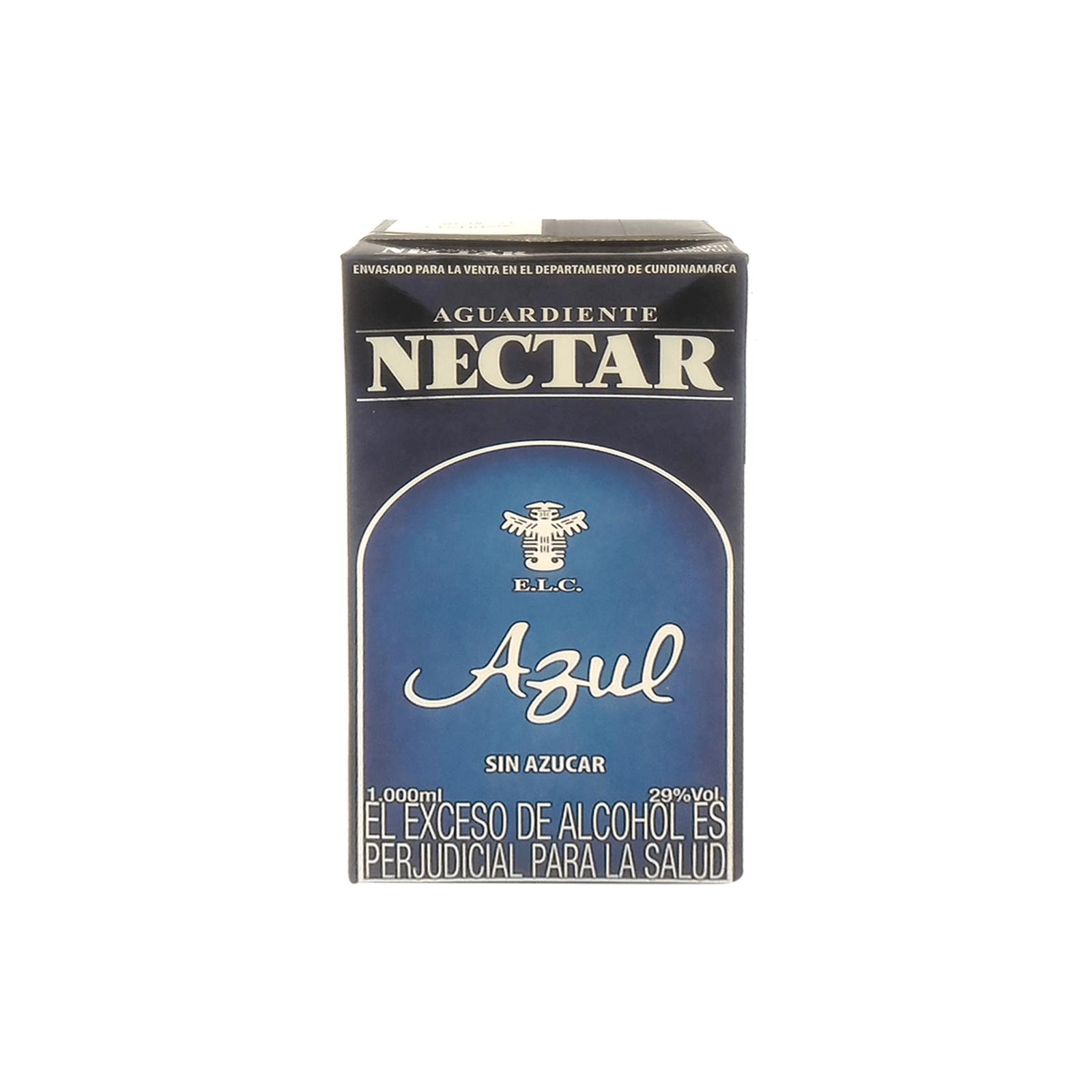 Aguardiente Tetra Sin Azucar Nectar Azul