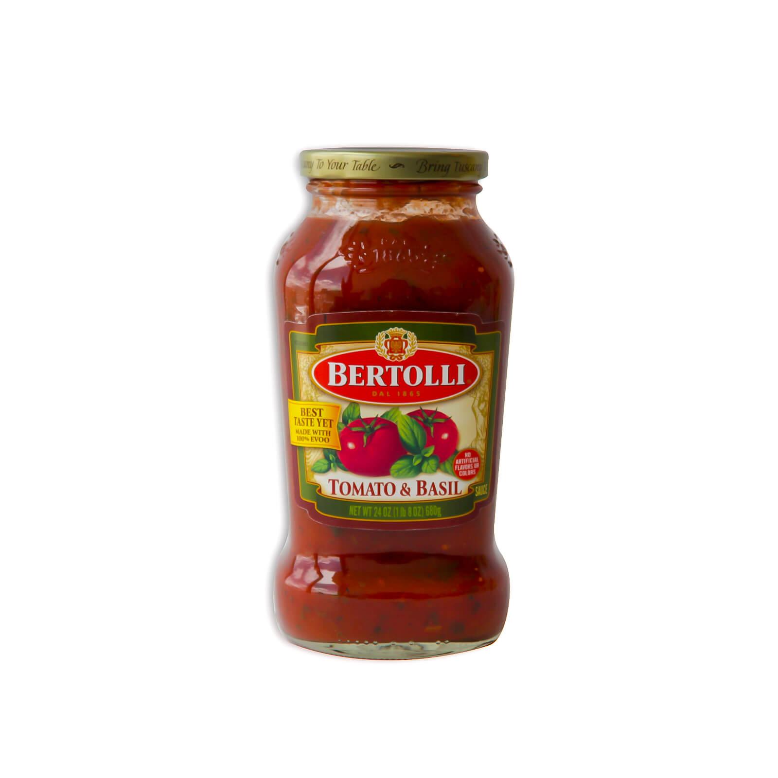 Salsa Para Pasta De Tomate Y Albahaca Bertolli