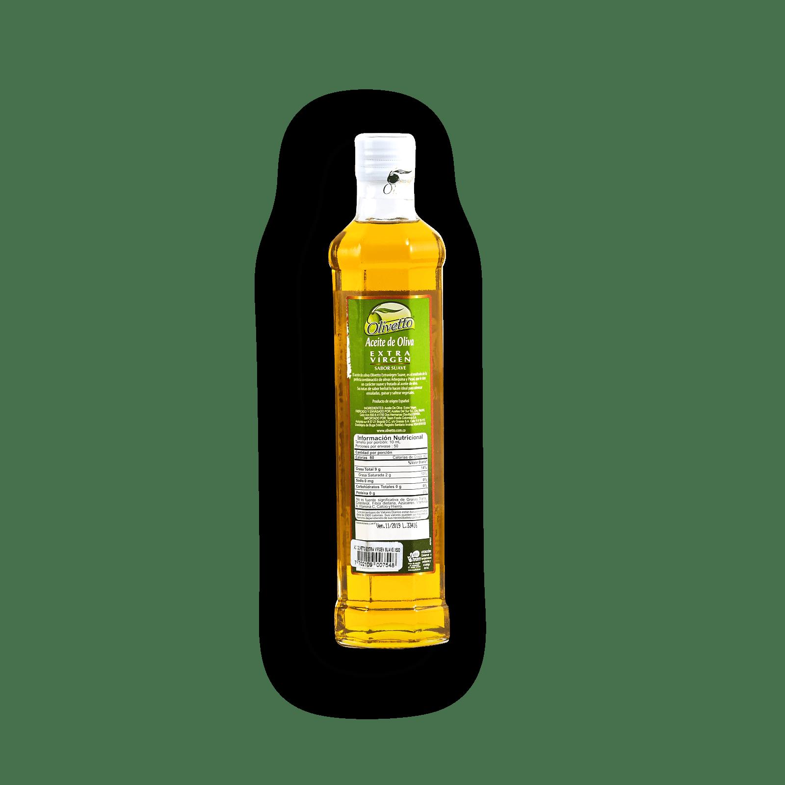 Aceite De Oliva Extra Virgen Suave Olivetto