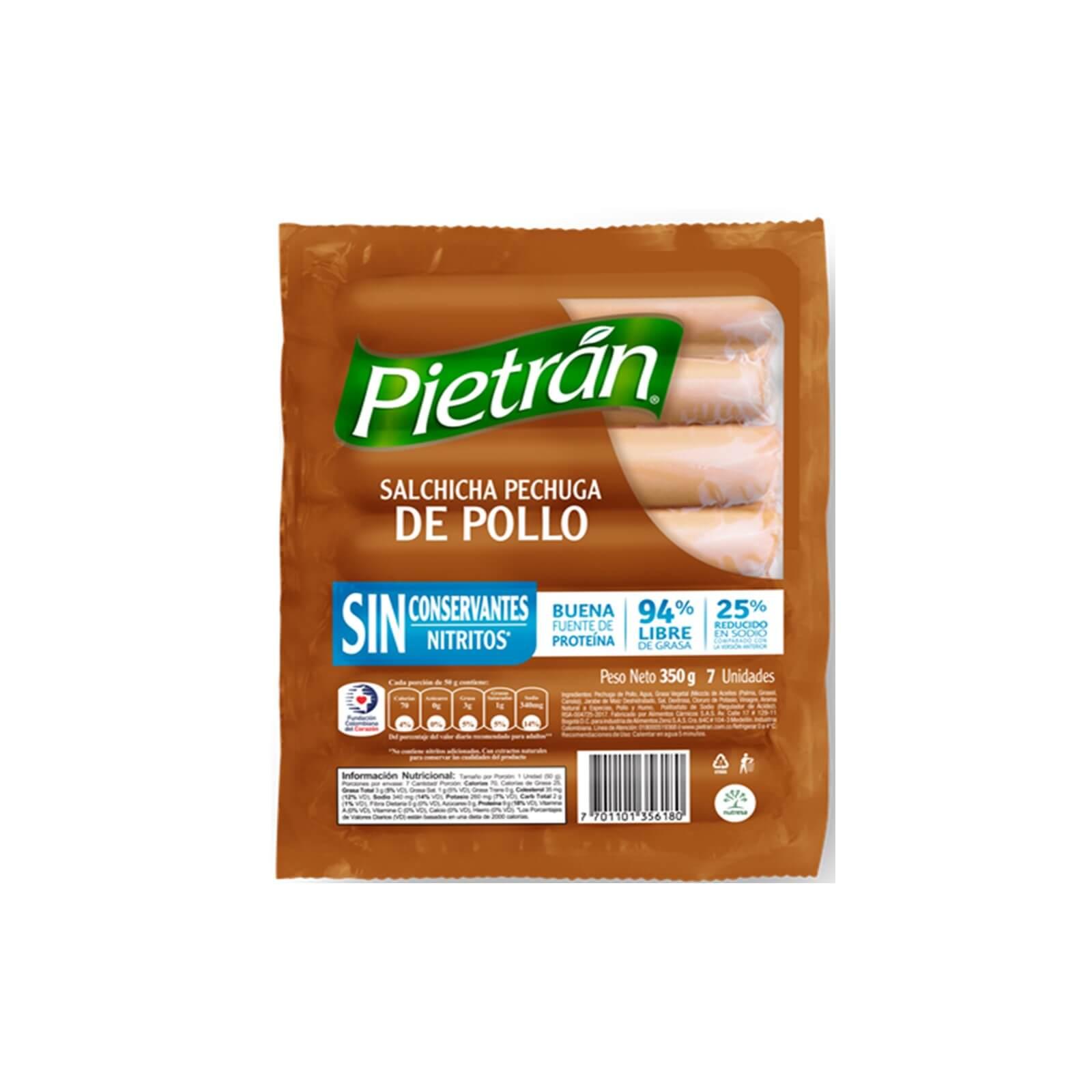 Salchicha Pechuga De Pollo Pietran