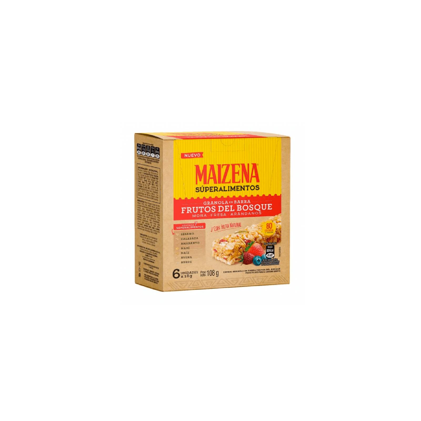 Barra Cereal Maizena Frutos Rojos
