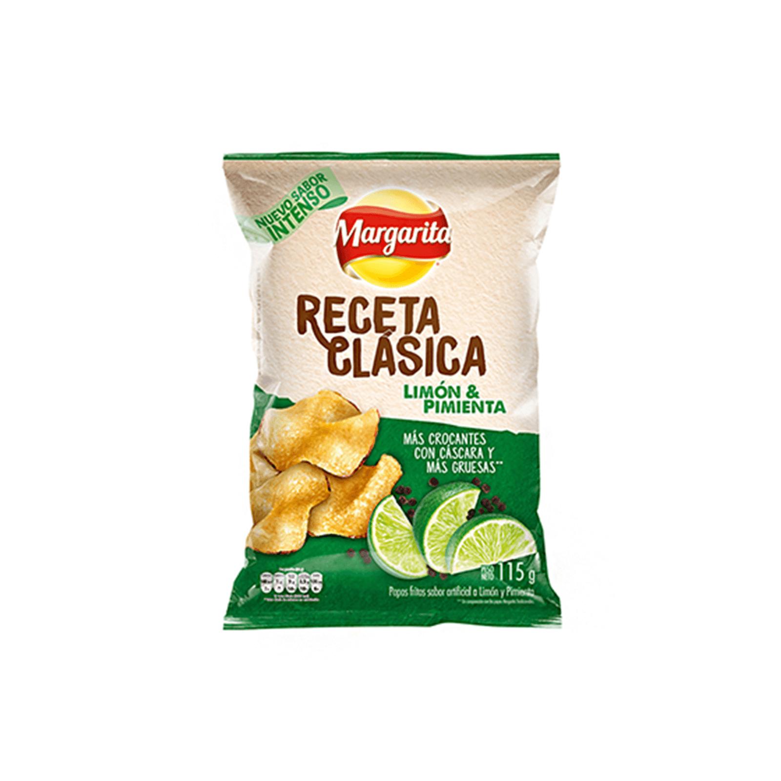Papas Receta Clasica Limon Pimienta Margarita