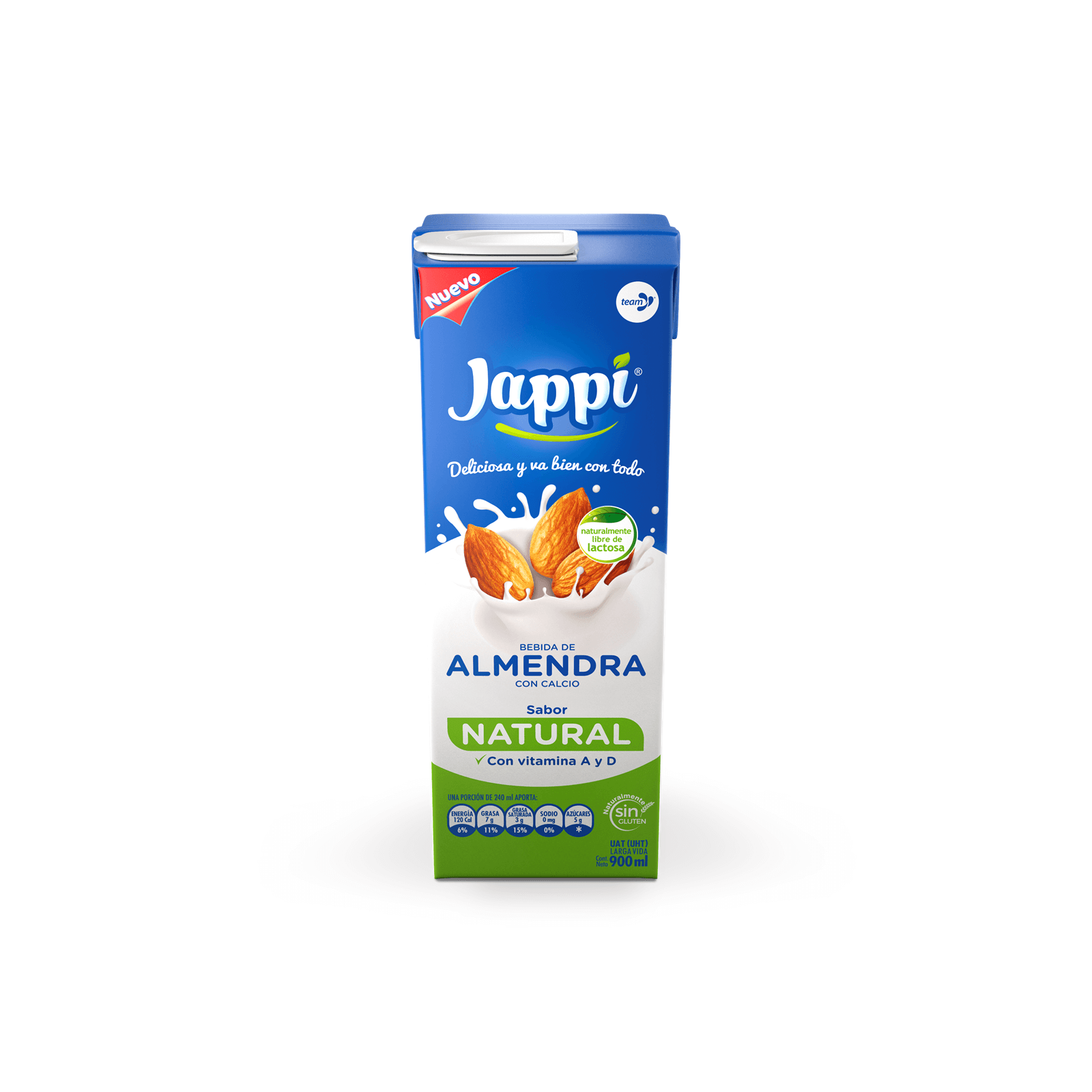 Leche De Almendra Jappi Tetra Pack Natural