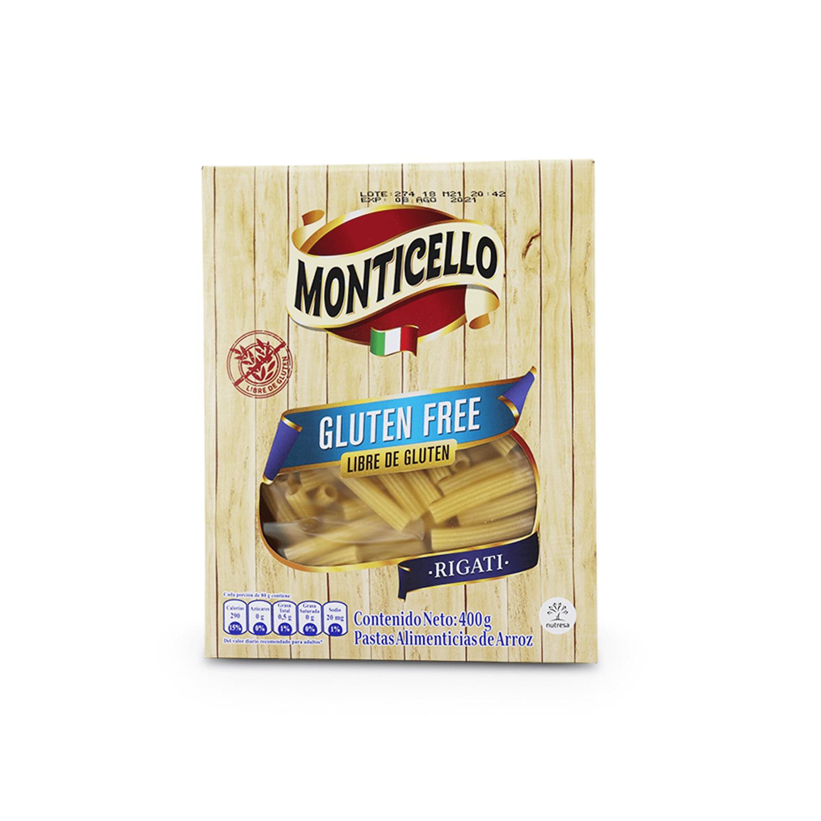 Rigati Libre De Gluten Monticello
